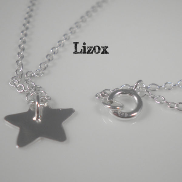 thin silver star necklace