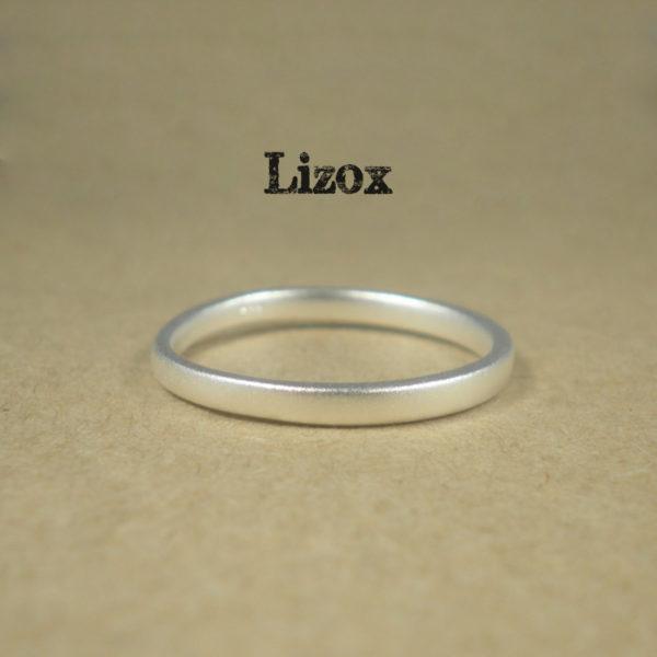 2mm Satin Silver Ring