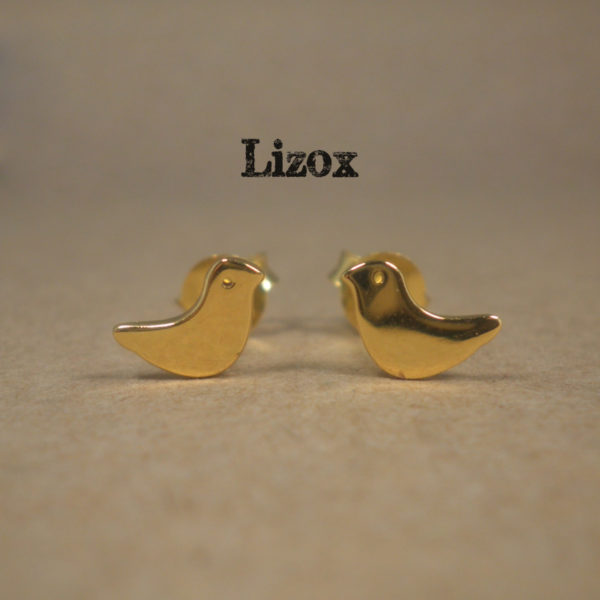 Gold Birds Earrings