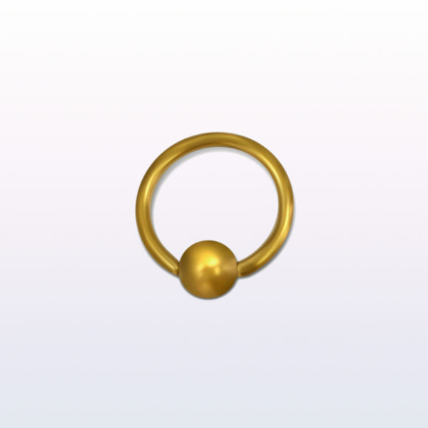 12mm Golden Ball Closure Ring With 5mm Ball Body Piercing Jewellery
