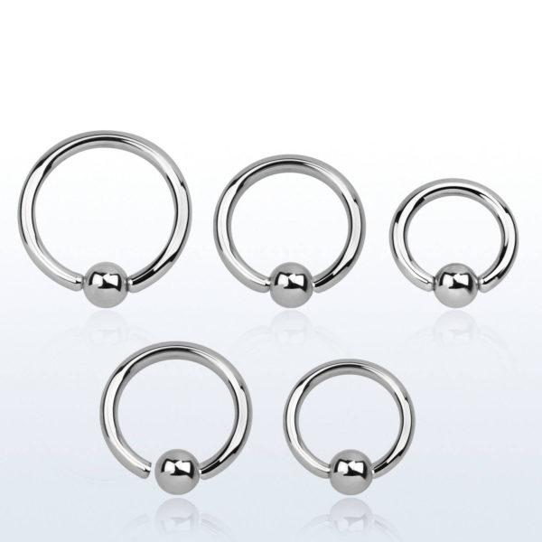 surgical steel ball closer ring