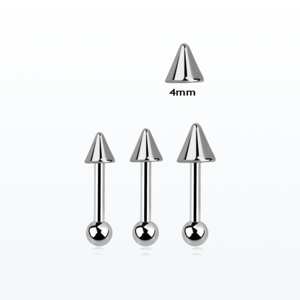surgical steel tragus 4mm cone
