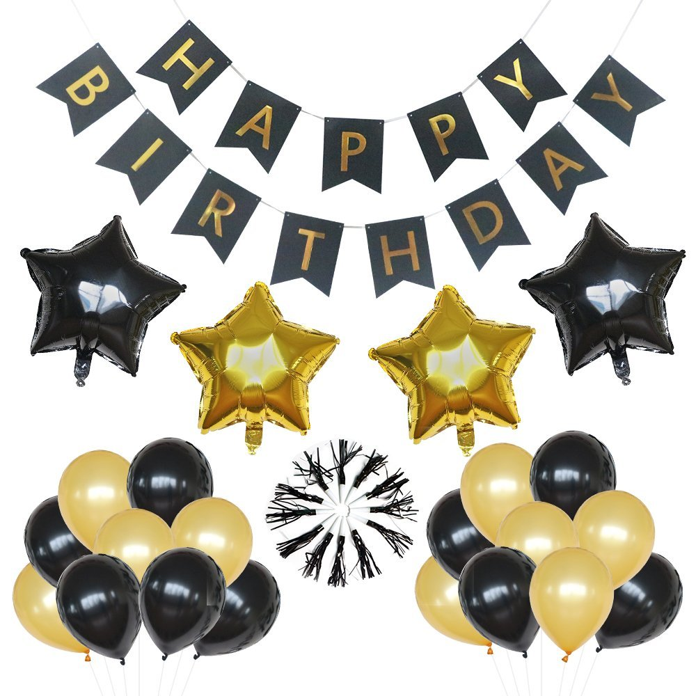 Black and gold Birthday Kit