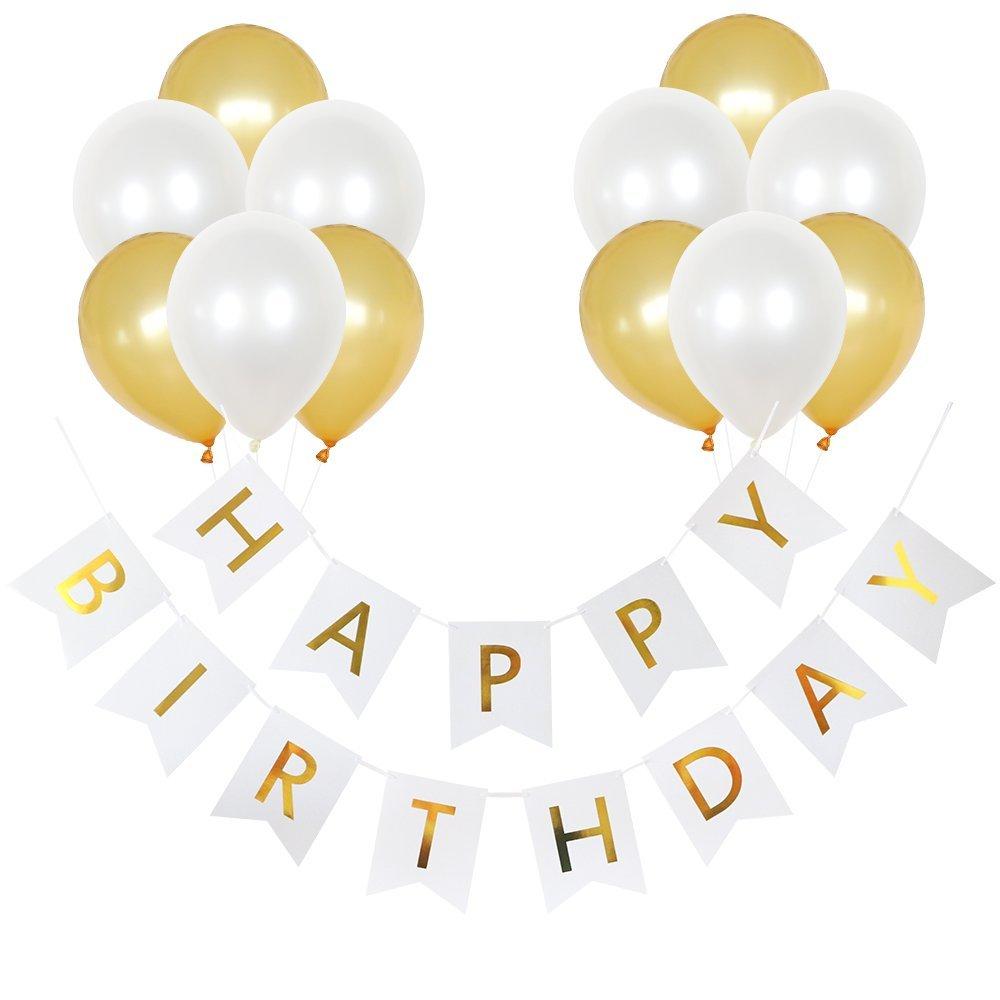 White Happy Birthday